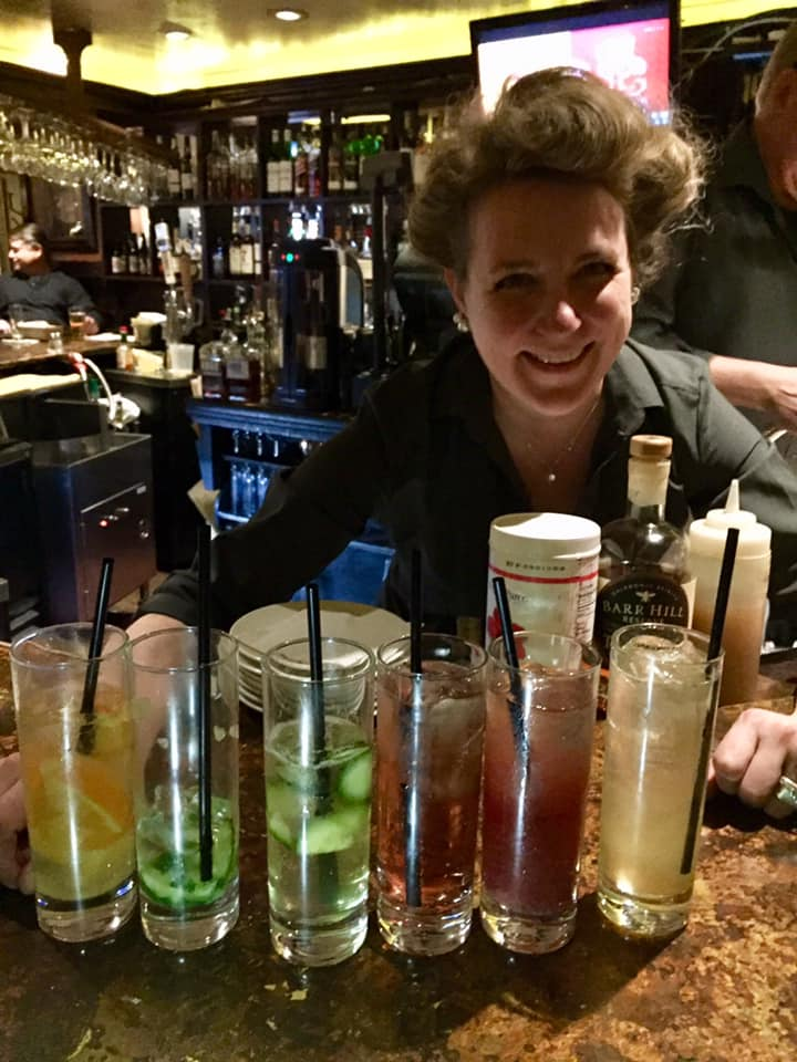 Bartender, Kristy Lohse, finalist for Best Bartender for the Bucks Happening List